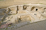 Ruins of the palace \\'Hammam\\' or bath-house at the Palace of the Shirvan Shahs.
