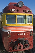 Soviet - era diesel-electric locomotive at the Museum of Railway Technology.