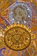 Image of Golden chandelier and ceiling paintings at the Saviour Monastery of St Euthymius.