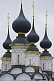 Image of Black and gold onion-domes of the St Lazarus Church.