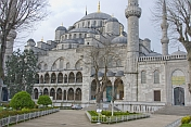 Side view of Sultan Ahmet\\\\'s Blue Mosque, in Sultanahmet.