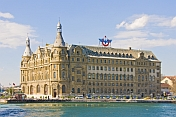 The Haydarpasa Railway Station, on the Asian side of the Bosphorous at Kadikoy.