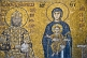 Image of Mosiac of Madonna and Child with King; in Aya Sofia.