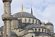 Image of Domes and minarets of Sultan Ahmet\\\\'s blue mosque in Sultanahmet.