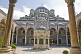 Image of Exterior courtyard view of Yeni or new mosque in Eminonu.