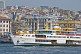 Image of A Bosphorus ferry boat approaches Kadikoy, on the Golden Horn.