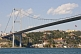 Image of The Bosphorus Bridge, at Ortakoy, joins Europe with Asia.