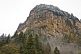 Image of The Sumela Monastery perches high on the side of a mountain.