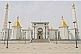 Image of The golden-roofed Turkmenbashi Ruhy Mosque is the biggest in Central Asia, and can hold 10,000 worshippers.