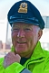 Image of Massachusetts Port policeman in yellow reflective jacket.