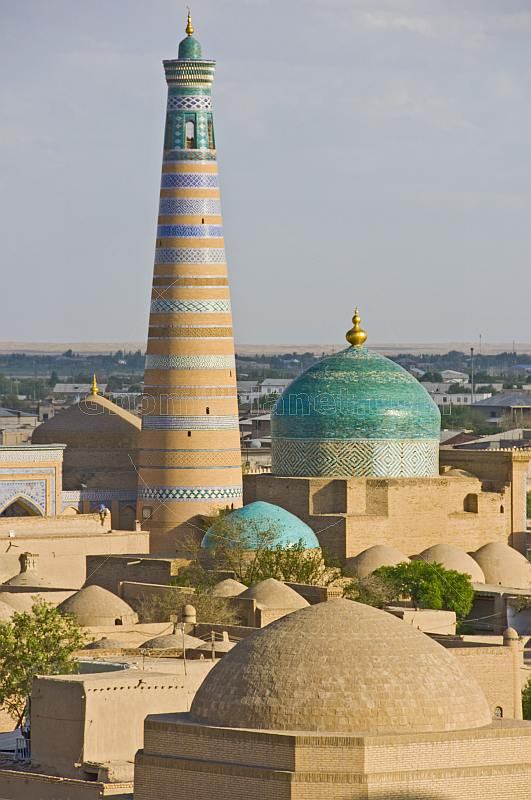 Minaret and madrassah of Islam-Khodja, viewed from the Kuhna Ark.