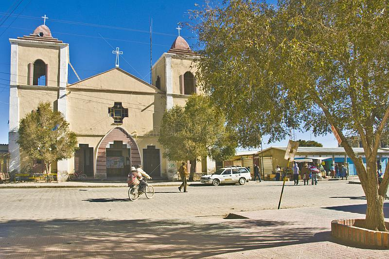 Front of Uyuni Cathedral on Avenida Colon.