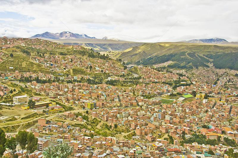 View over the city of La Paz.
