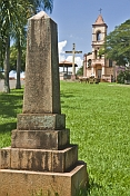 Memorial in front of Igreja Santa Cruz on Rua Francisco Costa.