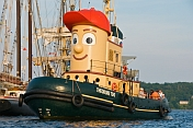 Visitors to Pictou Docks take a harbour trip on the tugboat 'Theodore Too'.