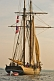 Image of The tallship 'Amistad' takes an evening cruise in Pictou Harbour.