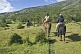 Horse riding in the Parque Nacional Los Glaciares.