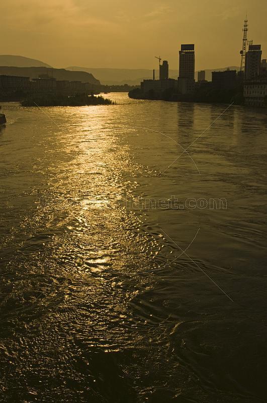 Sunset on the Yellow River.