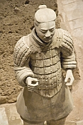 Terracotta warrior in pit number 2.
