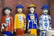 Pottery Chinamen figurines.