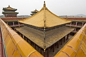 The golden and tiled roofs of Putuozongcheng Buddhist Temple.
