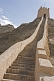 Image of Steps along the reconstructed Great Wall of China at the Shiguan Gorge, near Jiayuguan.