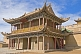Image of Elaborate Pagoda-roofed temple at the Jiayuguan Fort.