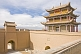 Image of Pagoda-style watch tower and gateway at the Jiayuguan Fort.