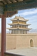 Image of Pagoda-style watch tower on the walls at the Jiayuguan Fort.