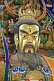 Image of Closeup of temple god in the Taoist Temple of the Flying Horse.