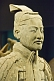 Image of Terracotta warrior on display at the Shaanxi History Museum.