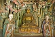 Image of Buddhist and Bodhisattva statues in Hanging Monastery interior.