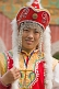 Image of Chinese girl wearing imitation Emperor\\\\'s court clothing.