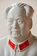 White pottery figurine of Chairman Mao Tsedong.