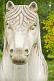 Image of Chinese statue of a sacred horse on the Spirit Way leading to the Ming Tombs.