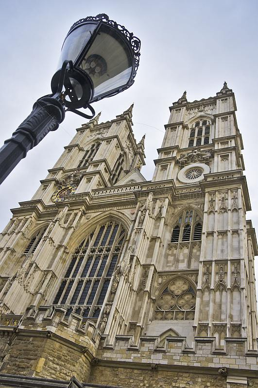 Towers of Westminster Abbey a Gothic church in the City of Westminster built in 1722.