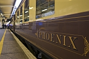 Carriage of the Venice Simplon-Orient-Express at Victoria Station.