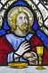 Image of Stained glass depicts Jesus at Last Supper in All Saints Church at Thirkleby.
