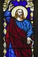 Image of Stained glass Apostle in All Saints Church at Thirkleby.