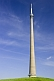 Image of Emley Moor TV transmission tower is 330m 1080 feet high.