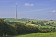 Image of The 330m 1080 feet high Emley Moor TV transmission tower dominates surrounding countryside.