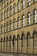 Image of Windows and sandstone wall of old West Yorkshire woolen mill.