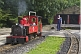 Image of Steam locomotive driver walks towards engine Fox at Kirklees Light Railway at Clayton West.