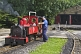Image of Locomotive driver prepares steam engine Fox at Kirklees Light Railway at Clayton West.