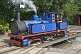 Image of Steam locomotive Hawk on the turntable at Kirklees Light Railway at Clayton West.