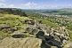 Image of View over Ilkley town from Ilkley Moor and the Cow and Calf Rocks.