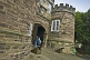 Image of Gatehouse and entrance to Skipton Castle - a well preserved medieval castle first built in 1090.