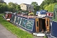 Image of Moored narrow boats on the Leeds Liverpool canal near Belmont Street.