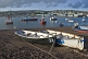 Image of Fishing boats in Teignmouth harbor and the River Teign estuary.
