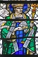 Image of Stained glass window of bishop in the Cathedral Church of Saint Peter.